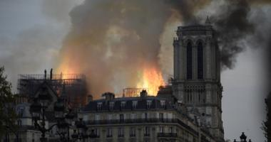 A fire erupted on the roof of Notre Dame Cathedral