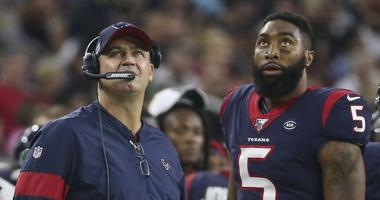 Houston Texans head coach Bill O'Brien and quarterback Joe Webb