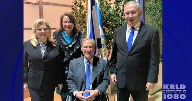 Texas Governor Greg Abbott, Israeli Prime Minister Benjamin Netanyahu
