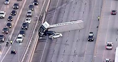 Semi Truck Crash I-35W