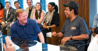 NFL Commissioner Roger Goodell and Jay-Z