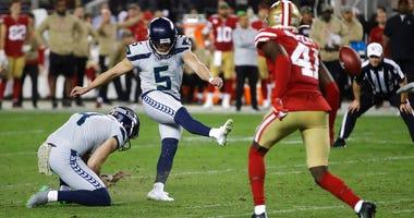 Seattle Seahawks kicker Jason Myers