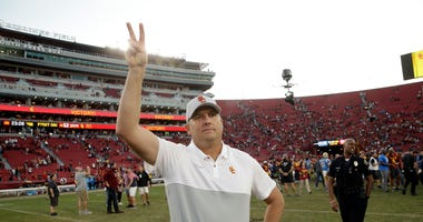USC Head Coach Clay Helton