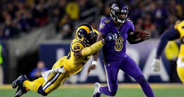 Baltimore Ravens quarterback Lamar Jackson,