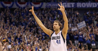 Dirk Nowitzki during the 2011 NBA Finals