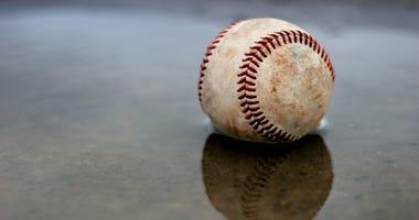 baseball in the rain