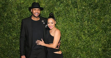 Carmelo Anthony with wife La La in 2016.