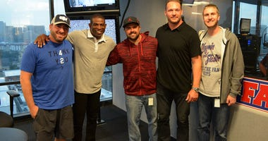 Shan & RJ with Deion Sanders & Brian Urlacher