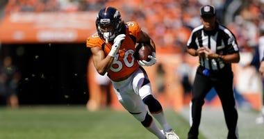 Denver Broncos running back Phillip Lindsay