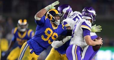 Los Angeles Rams defensive tackle Aaron Donald