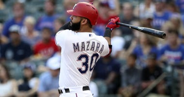 Texas Rangers right fielder Nomar Mazara