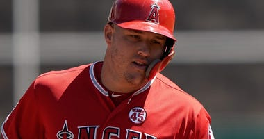 Los Angeles Angels center fielder Mike Trout