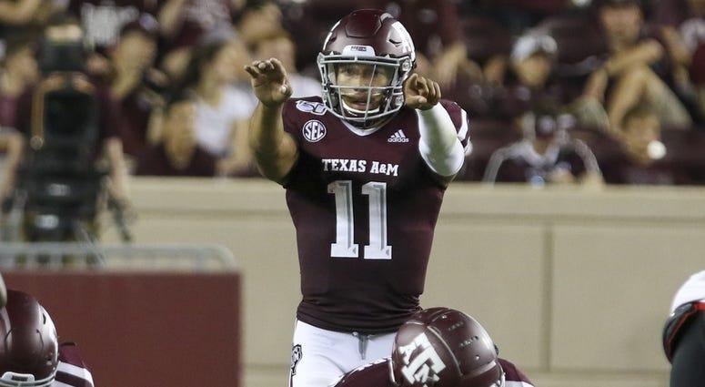 Texas A&M Aggies quarterback Kellen Mond