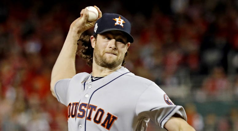 Houston Astros starting pitcher Gerrit Cole