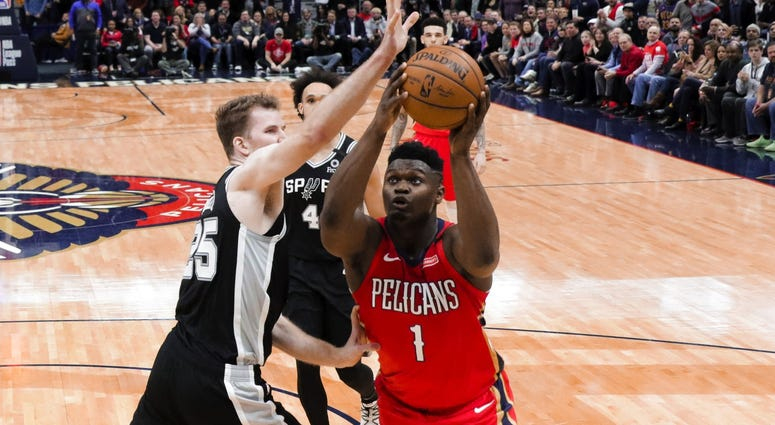 New Orleans Pelicans forward Zion Williamson