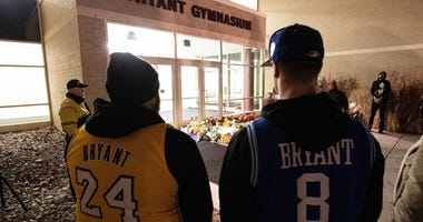 Fans gather to pay their respects to NBA Kobe Bryant