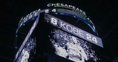 The Oklahoma City Thunder have a moment of silence for Kobe Bryant before the start of a game against the Dallas Mavericks at Chesapeake Energy Arena