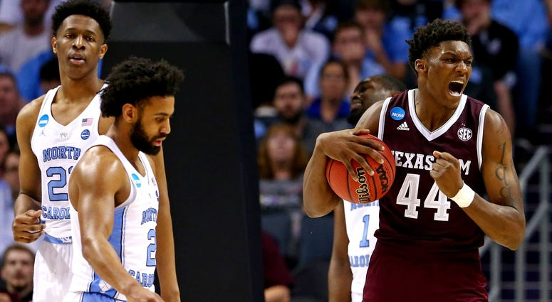 NCAA Tournament-Second Round-North Carolina vs Texas A&M