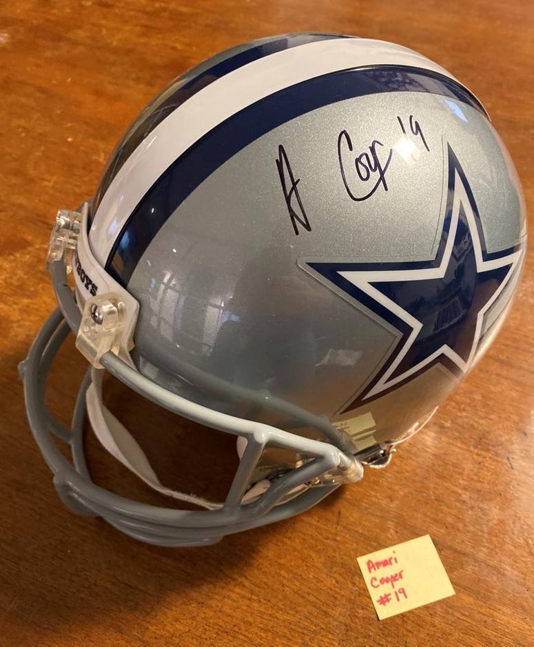 Amari Cooper signed helmet
