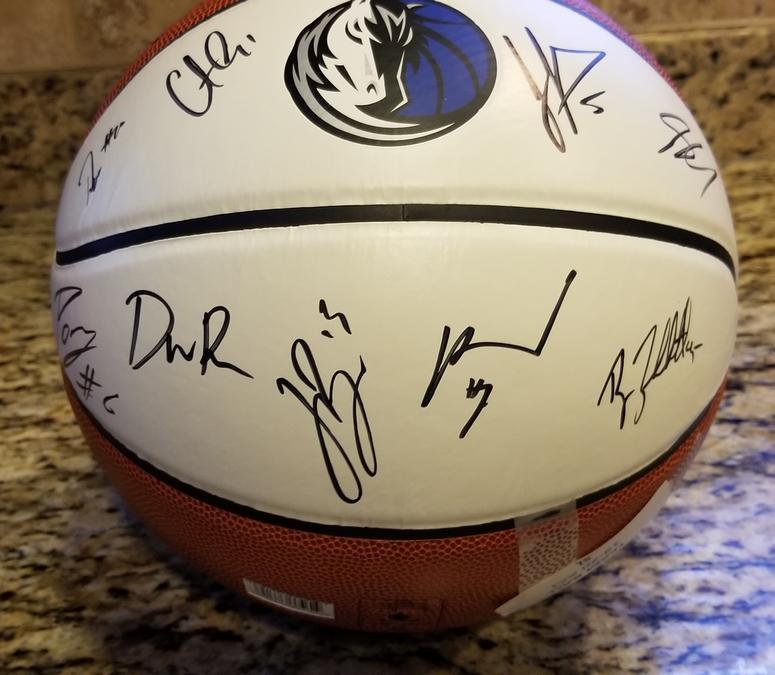 Dallas Mavericks team signed basketball