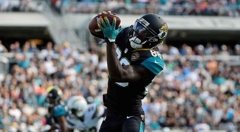 Jacksonville, FL, USA; Jacksonville Jaguars wide receiver Allen Hurns