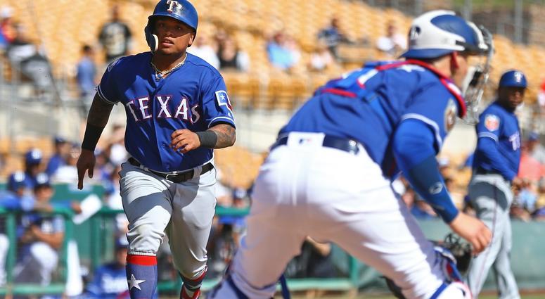 Texas Rangers outfielder Willie Calhoun
