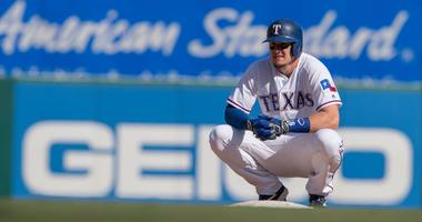 Texas Rangers left fielder Ryan Rua