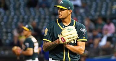 Oakland Athletics starting pitcher Sean Manaea