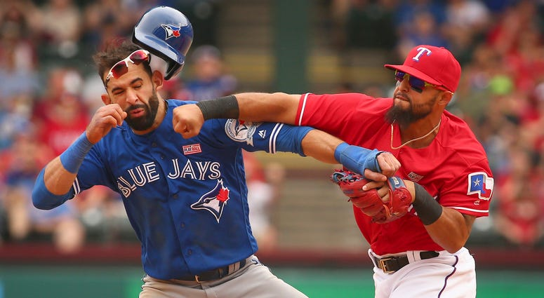 Rougned Odor Punching Jose Bautista