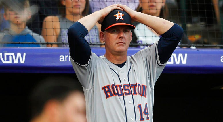 Houston Astros manager AJ Hinch