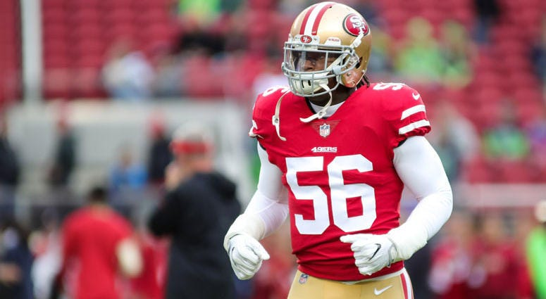 San Francisco 49ers outside linebacker Reuben Foster