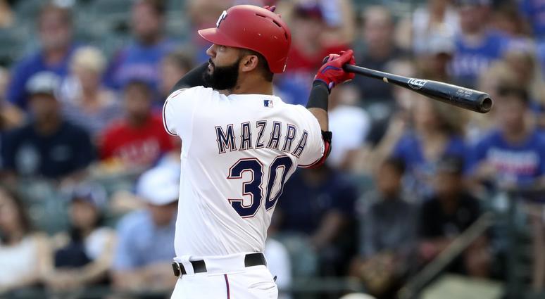 Texas Rangers right fielder Nomar Mazara