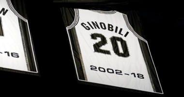 Spurs Retire Ginobili Jersey