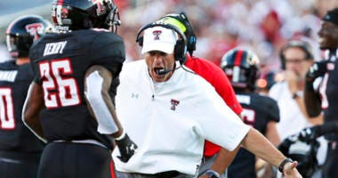 Texas Tech head coach Matt Wells