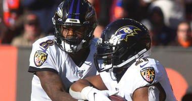 Baltimore Raven quarterback Lamar Jackson