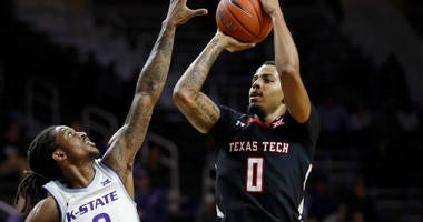 Texas Tech guard Kyler Edwards vs Kansas State