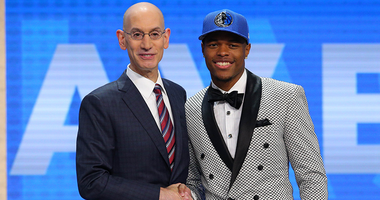 Adam Silver With Dennis Smith Jr. At The 2017 NBA Draft