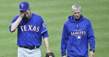 Texas Rangers relief pitcher Chris Martin