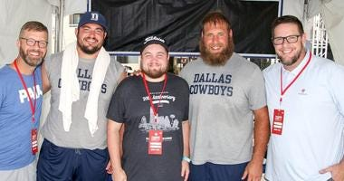 Cowboys Players With Ben & Skin