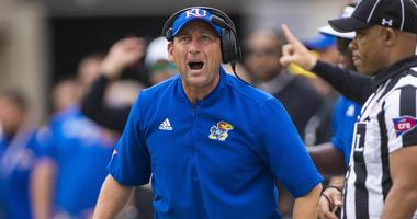 Kansas Jayhawks head coach David Beaty