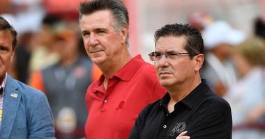 Washington Redskins president Bruce Allen (left) team owner Daniel Snyder (right)