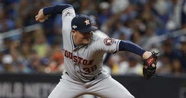Houston Astros relief pitcher Joe Smith