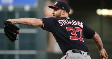 Washington Nationals pitcher Stephen Strasburg