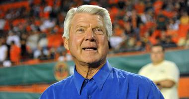 Former Dallas Cowboys, and Miami Dolphins and Miami Hurricanes head coach Jimmy Johnson