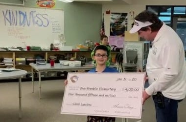 Great News: Meet the 8-year-old-boy who paid the Student Lunch Debt at his School.