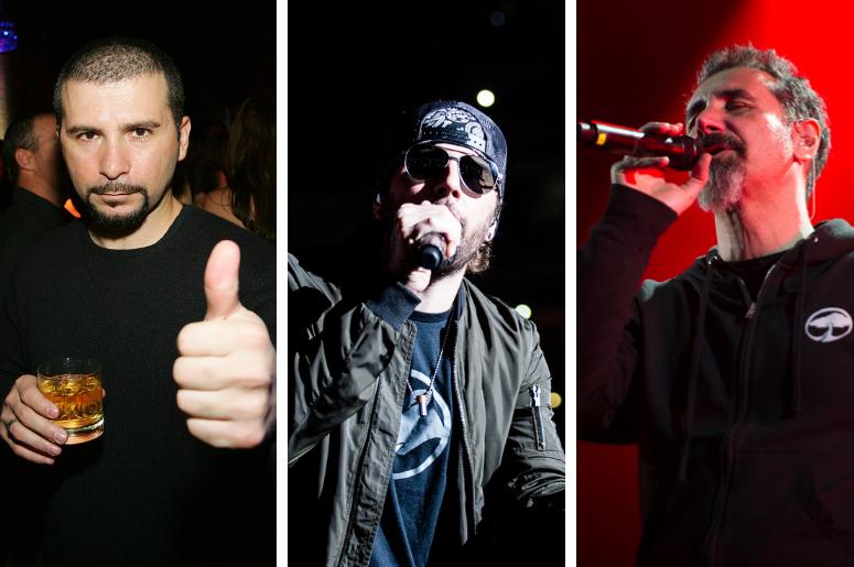 John Dolmayan, M Shadows, Serj Tankian