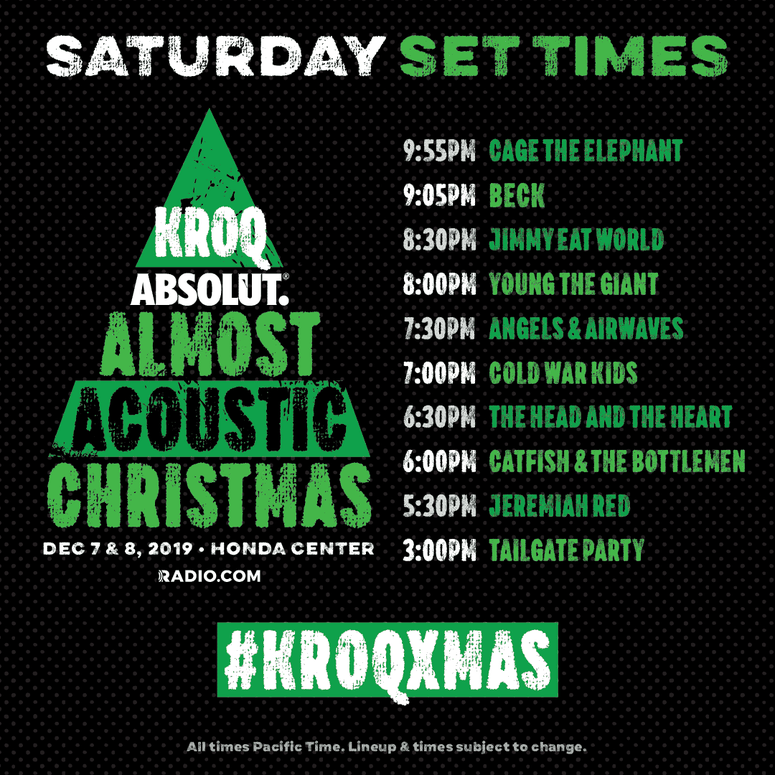 Kroq Acoustic Christmas 2020 Almost Acoustic Christmas 2019 Lineup + Tickets | The World Famous