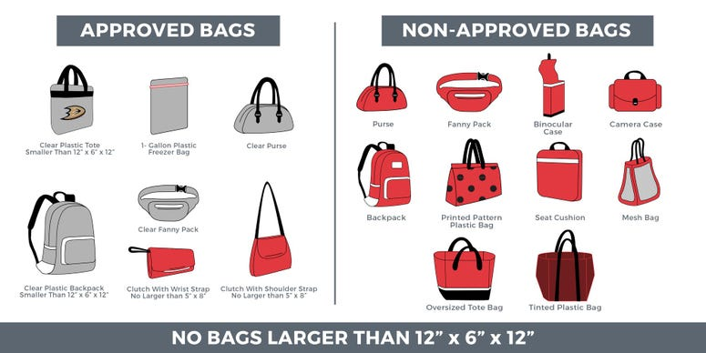 Honda Center Bag Policy 2019