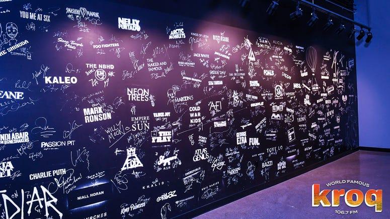 KROQ Sound Space Signature Wall
