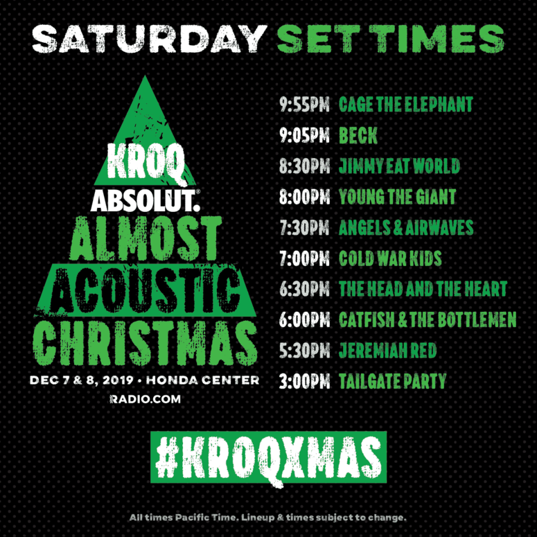 #KROQXMAS Night One Set Times